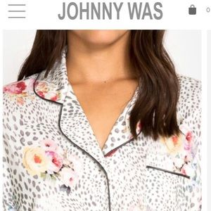 Johnny Was Intimates & Sleepwear - Johnny Was winery button down pajama top